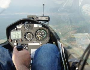 Cockpit view.