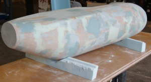 Fig. 5. Fuselage positive mould ready for polishing.