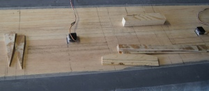 Fig. 2. Prepared parts to be glued onto the wing.