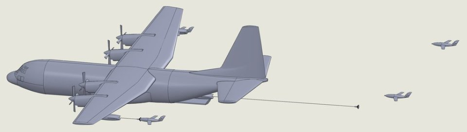 C-130 with an additional pot in the payload bay